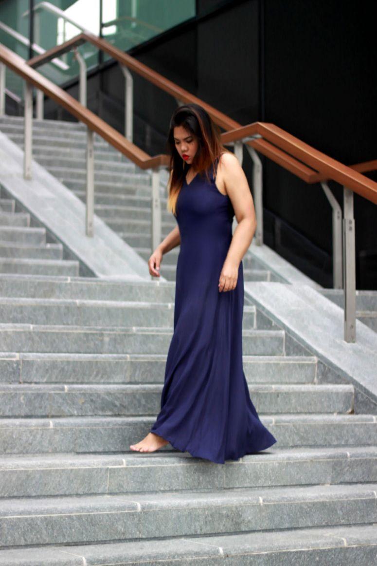 blue dress from sheinside
