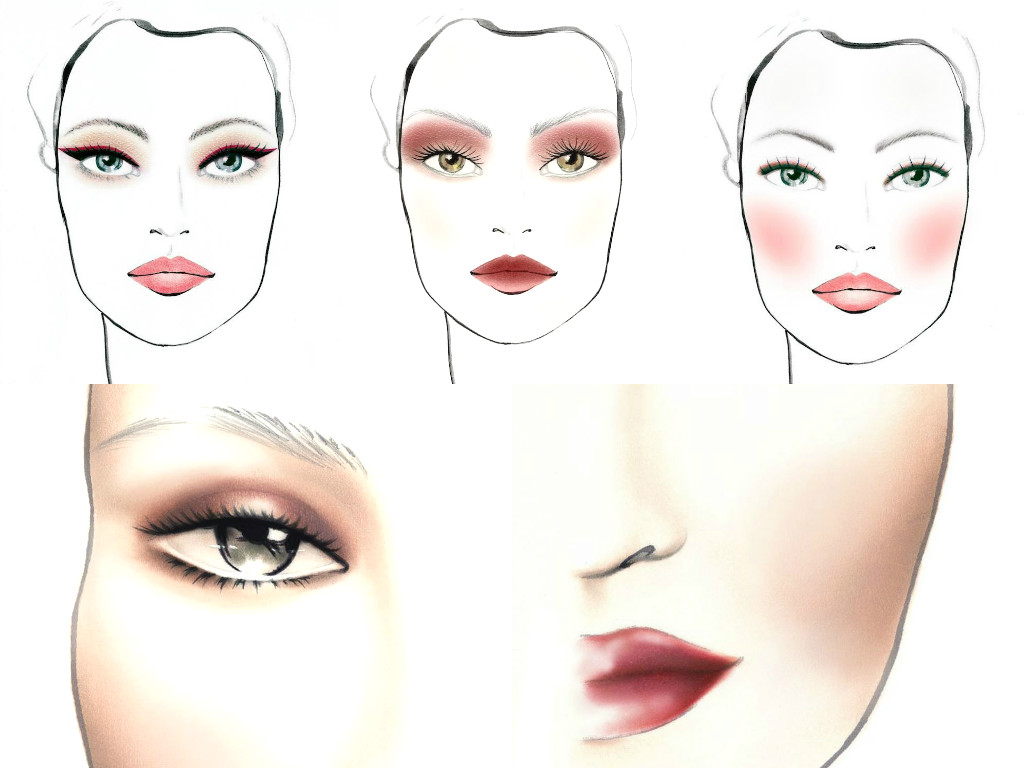 marsala make-up sketch