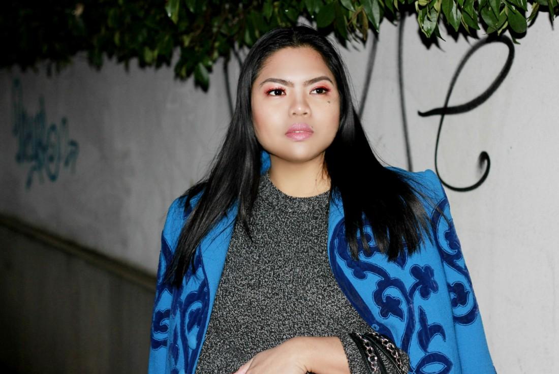 Marsala make-up Zara Jersey Sweater