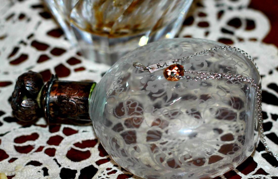 Matthew Calvin London Meteorite Pendant Rose Gold