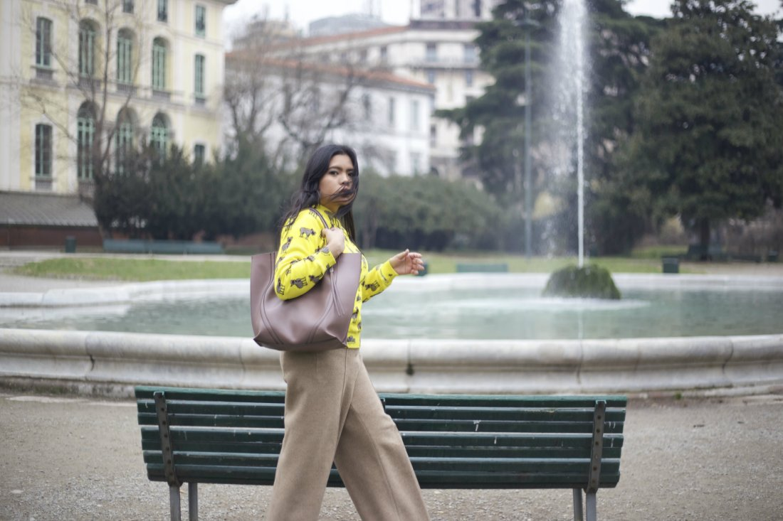 zara pants au jour le jour sweater gianni chiarinni bag 3