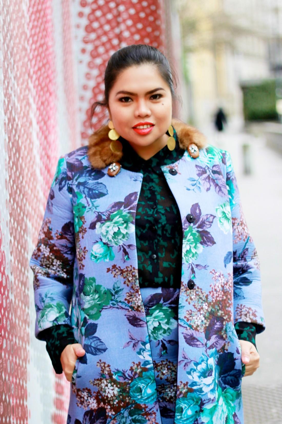 shirtaporter floral coat