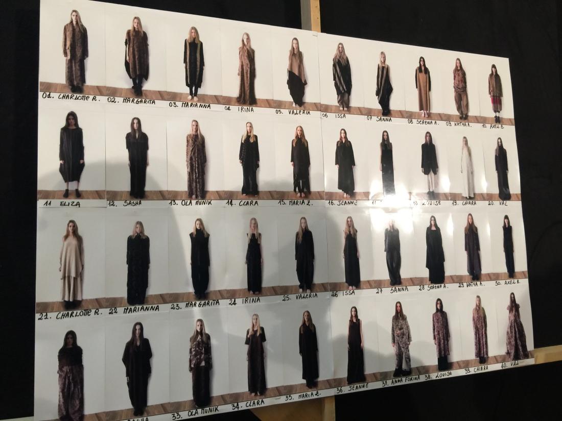 uma wang fall-winter 2015-2016 models and moodboard