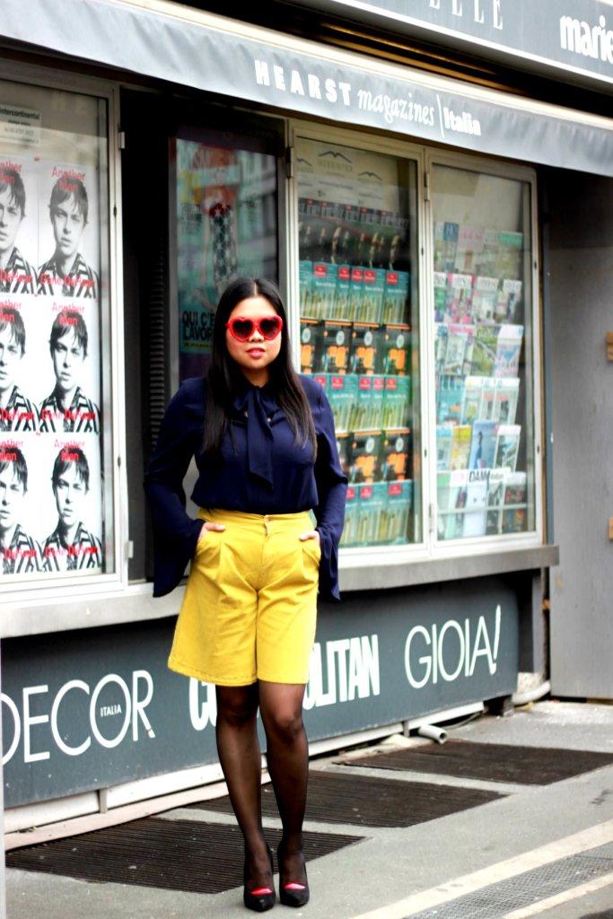KAOS AW15 blouse and shorts