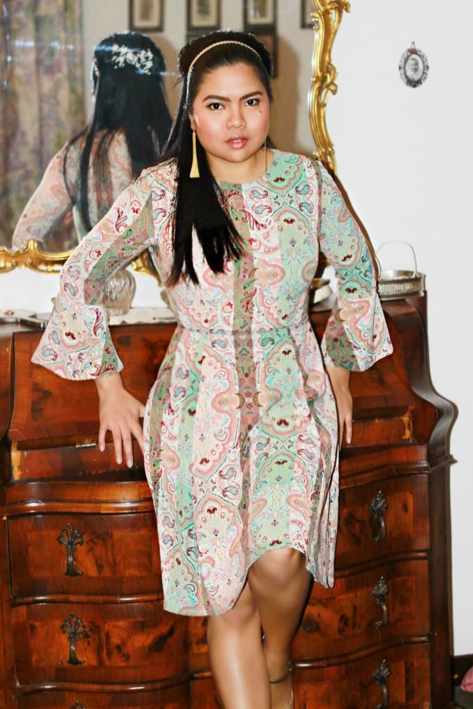 kaos aw15 paisley dress